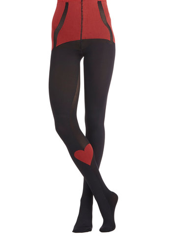 Love Poses No Bounds Tights by Pretty Polly - Black, Red, Best, International Designer, Sheer, Valentine's, Pinup, Fairytale, Boudoir, Darling