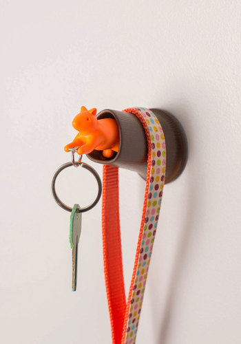 Scurry on Your Way Key Holder - Quirky, Critters, Good, Orange, Brown, Woodland Creature