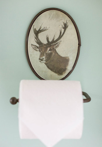 You're in Buck Toilet Tissue Holder - Multi, Rustic, Good, Print with Animals