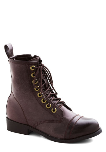 Genuine Adventure Boot - Low, Faux Leather, Solid, Good, Lace Up, Purple, Military, Vintage Inspired, 90s
