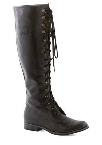 Chocolate Craving Boot in Black - Low, Faux Leather, Black, Solid, Lace Up, Steampunk, Variation, Gifts Sale