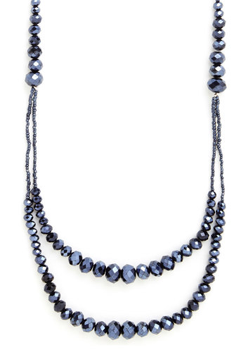 Come Dazzle You Are Necklace - Solid, Beads, Good, Blue