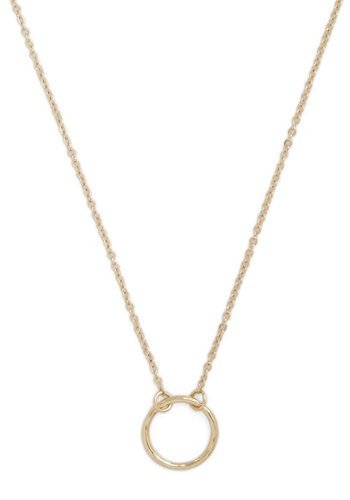 A Familiar Ring Necklace in Gold - Solid, Minimal, Gold, Good
