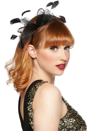 Dainty Delight Headband in Black $16.99 AT vintagedancer.com