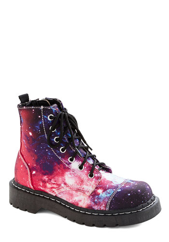 Aerospace Cadet Boot - Woven, Low, Multi, Print, Cosmic, Lace Up, 90s, Statement
