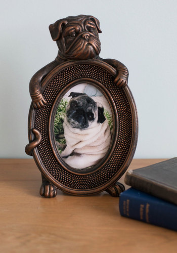 Glam's Best Friend Photo Frame by Streamline - Bronze, Bronze, Dorm Decor, Quirky, Critters, Dog