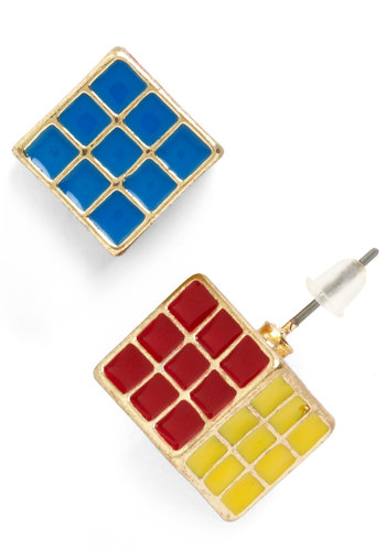 Cube Belong with Me Earrings - Multi, Quirky