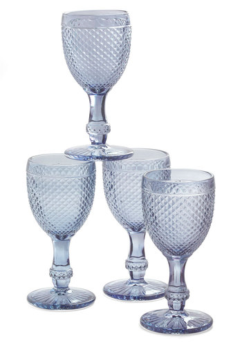 The Royal Chalice Glass Set - Multi, Vintage Inspired, Pastel, Green, Blue, Purple, Solid, Mid-Century, Better, Holiday