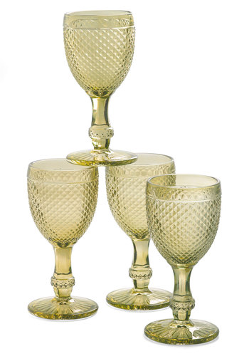 The Royal Chalice Glass Set - Multi, Vintage Inspired, Pastel, Green, Blue, Purple, Solid, Mid-Century, Better, Holiday, Wedding, Hostess, Top Rated
