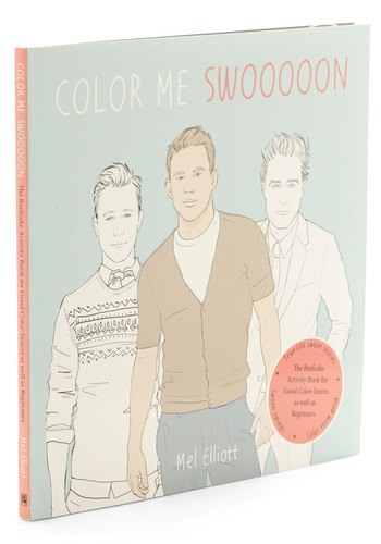 Color me Swoon Activity Book - Quirky, Good, Valentine's, Gals, Under $20