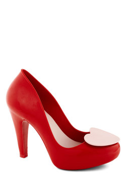 Shoe of Hearts Heel in Red