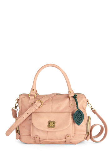 Day-to-Day Darling Bag by Nica - Pink, Solid, Pockets, Best, Faux Leather
