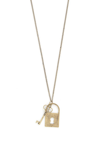 Lock and Quay Necklace - Solid, Gold, Good, Gold
