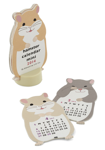 Year of the Critter 2014 Mini Calendar in Hamster - Multi, Kawaii, Good, Print with Animals