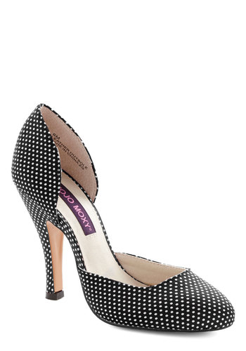 Fresh Finesse Heel in Black - High, Black, White, Polka Dots, Prom, Party, Vintage Inspired, 20s, 30s, Better, Variation