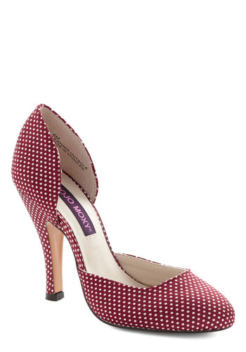 Fresh Finesse Heel in Red - High, Red, White, Polka Dots, Prom, Party, Vintage Inspired, 20s, 30s, Better, Variation