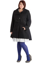 Winterberry Tart Coat in Black - Plus Size