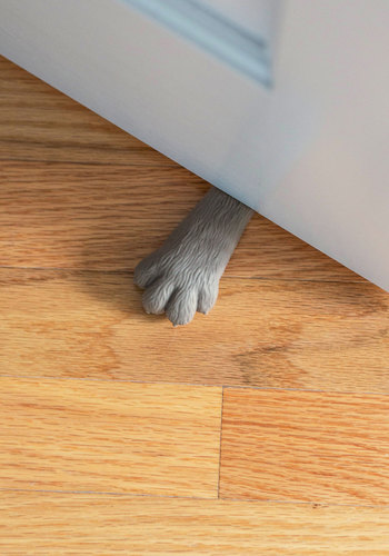 Lend Me a Paw Doorstop by Fred - Grey, Quirky, Cats, Good, Print with Animals, Under $20, Critters, Press Placement