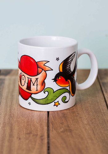 The Parent Tat Mug in Mom by One Hundred 80 Degrees - Multi, Rockabilly, Good, Novelty Print, Variation