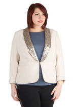 Light Up the Office Blazer in Plus Size