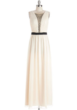 Cascading Champagne Dress