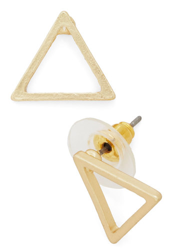Tip Top Shape Earrings in Triangles - Solid, Minimal, Gold, Good, Variation