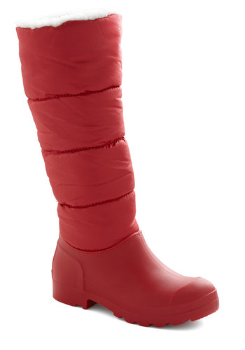Winterberry Picking Boot - Low, Woven, Red, Solid, Winter, Casual