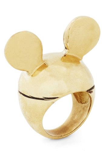 Ears to Your Dreams Ring - Print with Animals, Gold, Better, Gold