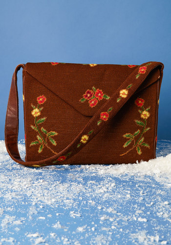 Vintage Heading Homespun Bag