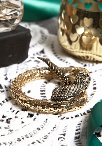Twist of Glitz New Heirloom Bracelet - Print with Animals, Vintage Inspired, 70s, 80s, Gold, Better, Exclusives
