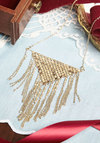 Lively Lunch New Heirloom Necklace - Solid, Fringed, Vintage Inspired, 20s, 30s, Gold, Better, Exclusives