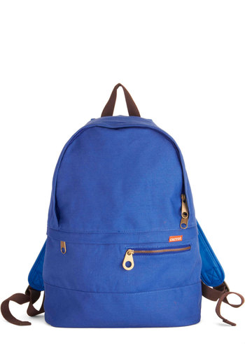 Skateboard Treasurer Bag - Blue, Solid, Exposed zipper, Scholastic/Collegiate, Good, Cotton, Woven, Travel