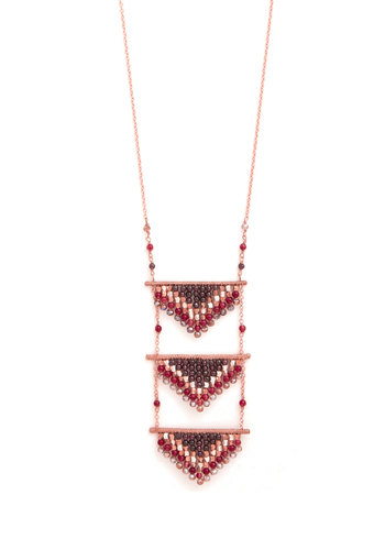 For Tiers to Come Necklace - Solid, Beads, Tiered, Better, Copper, Red, Copper