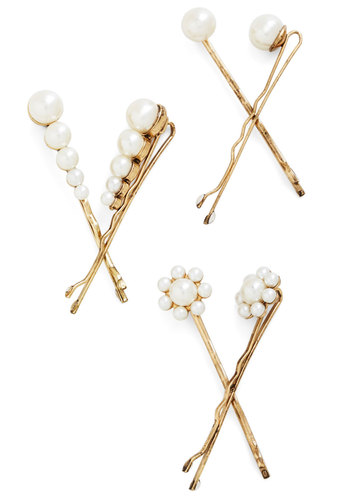You Can 'Do It Hair Pin Set - Cream, Gold, Solid, Pearls, Darling, Good, Exclusives