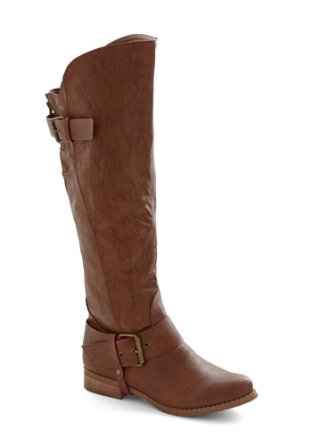 Homemade Cocoa Boot - Tan, Buckles, Low, Better, Faux Leather, Solid, Fall, Winter