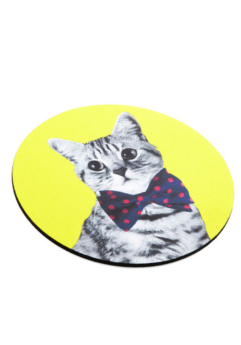 Cat and Mousepad - Multi, Cats, Good, Print with Animals