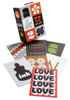 Yours Font-ly Postcard Set by Chronicle Books - Multi, Mid-Century, Good, Novelty Print, Valentine's