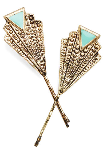 Deco-rate Your 'Do Hair Pin Set - Gold, Mint, Solid, Vintage Inspired, 20s, 30s, Good, Exclusives, Mint