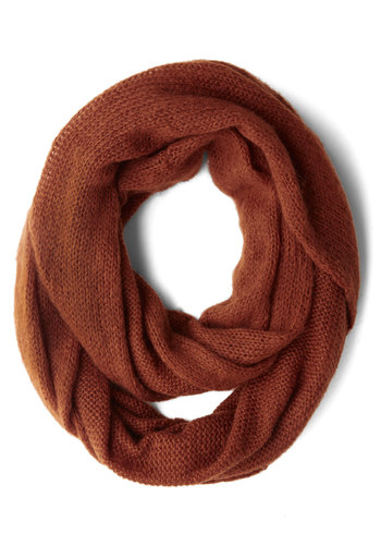Tour of the Town Circle Scarf by Wooden Ships - Orange, Solid, Fall, Winter, Best, Basic, Knit, Minimal