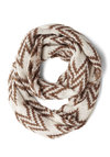 Chestnuts Roasting Circle Scarf by Wooden Ships - Cream, Chevron, Fall, Winter, Best, Knit, Brown