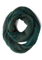 Casting Call It a Day Circle Scarf in Teal