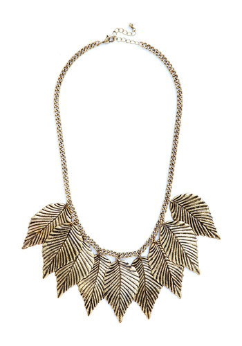Don't Leaf Home Without it Necklace - Gold, Solid, Good, Exclusives, Gifts Sale