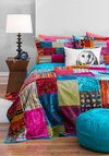 Come Array With Me Quilt Set by Karma Living - Multi, Boho, Dorm Decor, Best, Print, Patch