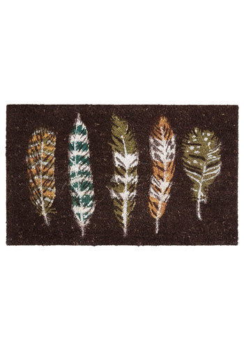 Feather Rain or Shine Doormat - Multi, Rustic, Better, Novelty Print
