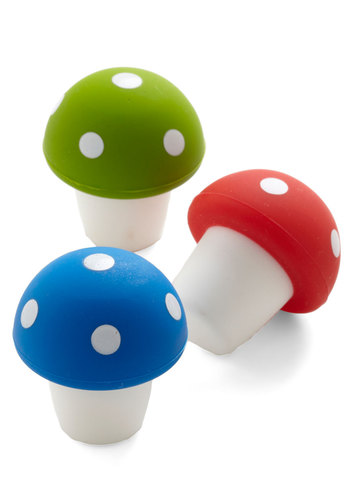 Everlasting Mod Stopper Wine Saver Set - Multi, Mushrooms, Good, Under $20