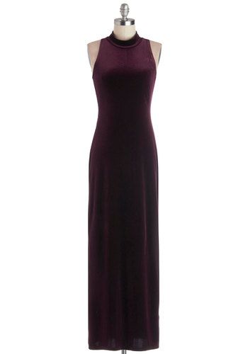 Velvet in Versailles Dress by Mink Pink - Solid, Maxi, Sleeveless, Better, Party, Holiday Party, Knit, Long, Purple