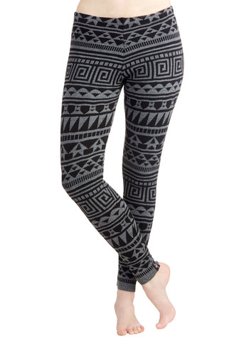 Cozy on the Couch Leggings - Print, Casual, 90s, Better, Low-Rise, Ankle, Knit, Vintage Inspired, Skinny, Multi, Multi
