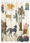 Forest Act of the Day Shower Curtain - Cotton, Woven, Multi, Critters, Better, Print with Animals