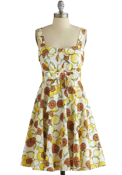 Pull Up a Cherry Dress in Citrus