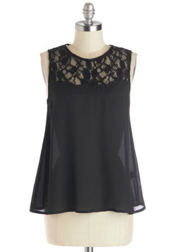 Airy Princess Top in Black